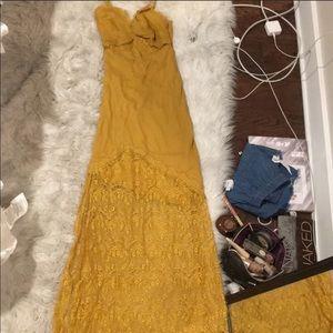 NWOT Cleobella maxi dress lace